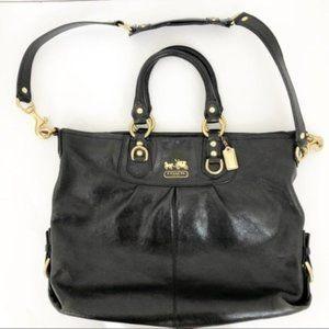 COACH Madison Julianne Black Leather Bag